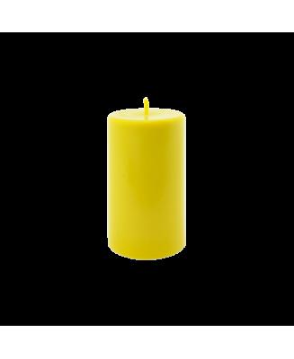 Bougie jaune parfumée aux huiles essentielles en cire végétale