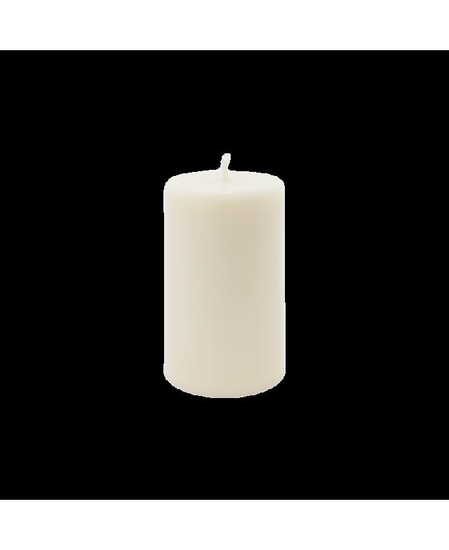 Bougie blanche NON parfumée 100% naturelle, cire de colza, mèche coton et papier