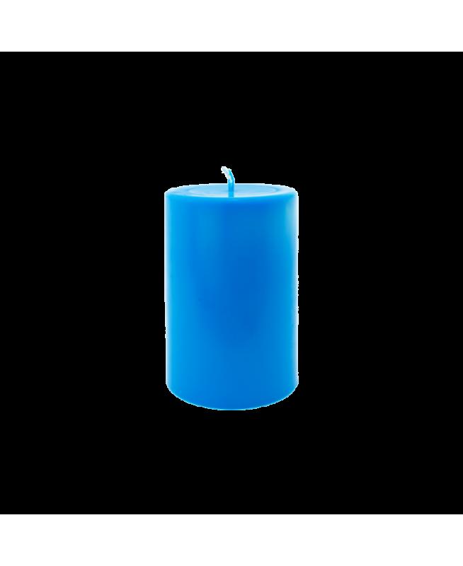 Bougie couleur bleue désodorisant maison naturel