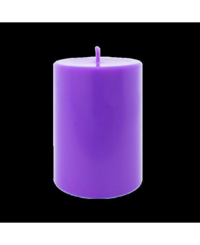 Bougie odeur non toxique cire végétale et parfum huiles essentielles, couleur violet