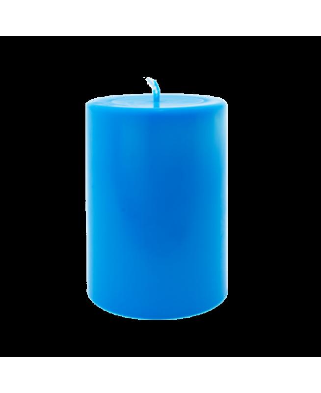 Bougie parfumée désodorisant écologique et naturel, cire végétale et huiles essentielles, couleur bleue