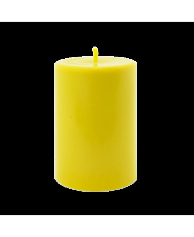 Bougie parfum d'intérieur de couleur jaune en cire naturelle parfumée aux huiles essentielles