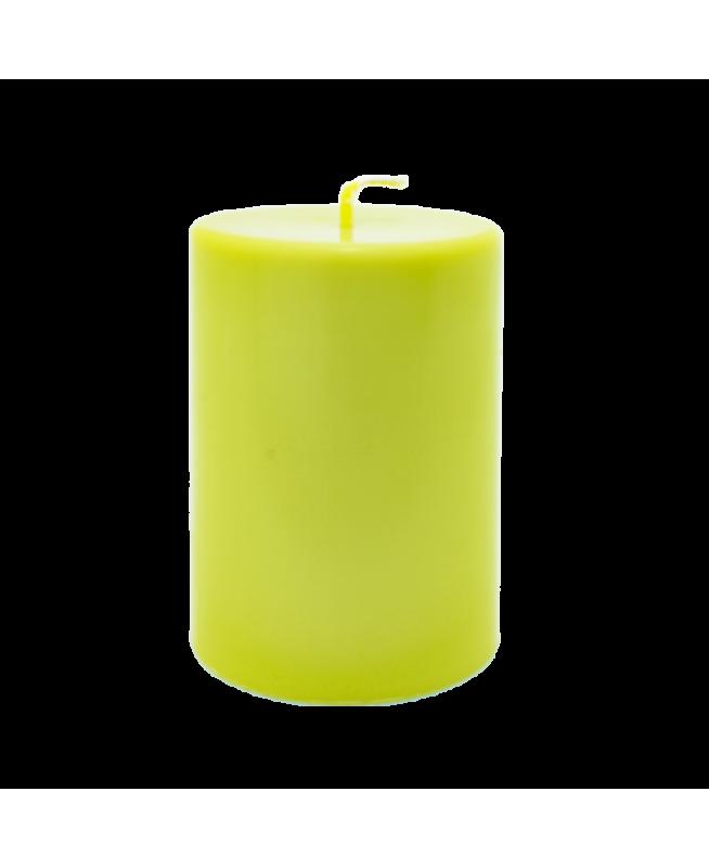 Bougies parfums d'ambiance naturel huiles essentielles et cire écologique de couleur vert pomme