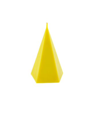Bougie déco intérieur jaune forme originale parfumée naturelle