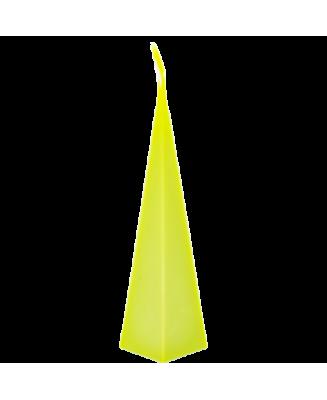 Bougie vert pomme couleur vive résistant à la lumière. Cire naturelle, huiles essentielles, bougie non toxique