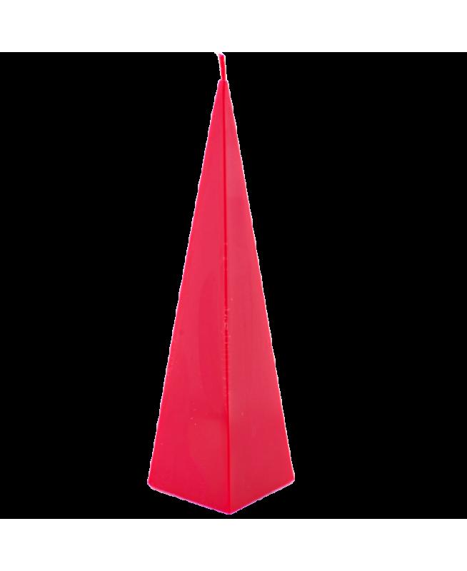 Bougie rouge en cire naturelle décoration d'intérieur, parfum naturel, cire végétale
