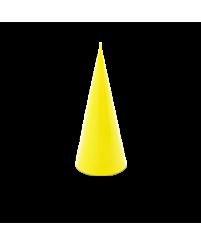 Bougie d'ambiance cocooning huiles essentielles couleur jaune cire de colza