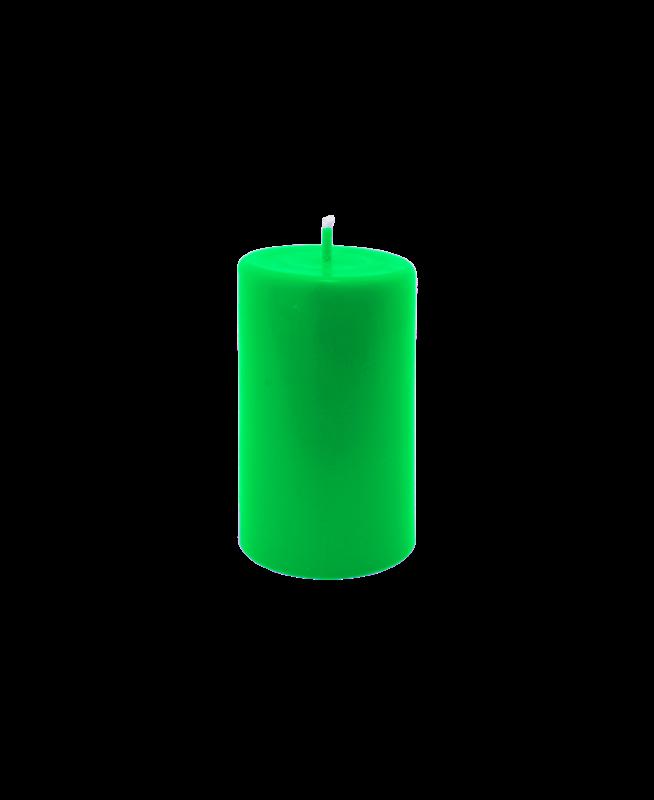 Bougie parfumée longue durée senteur naturelle couleur verte