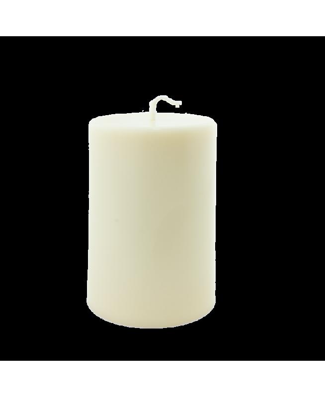 Bougie naturelle artisanale aux couleurs chaudes idéale pour les tables de fête
