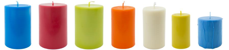 Bougie cylindrique naturelle huile essentielle colorée cire de colza